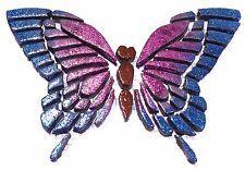 Mosaiksteine-Schmetterling-groß-BLAU-PINK-Glittereffekt-handmade-MARKTNEUHEIT
