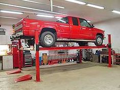 Free standing car lifts designed for the home garage or professional shop. Made in America for the enthusiast who wants the very best. Via BuyDirectUSA.com Like - Share - Repin