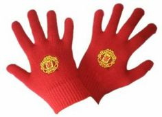 Manchester United F.C Knitted Gloves Youths - Red. Size: stretchable one size fits all ( 6 years up). Football Kits, Uk Football, Knitted Gloves, Manchester United, 6 Years, The Unit, Medium, Red, Stuff To Buy