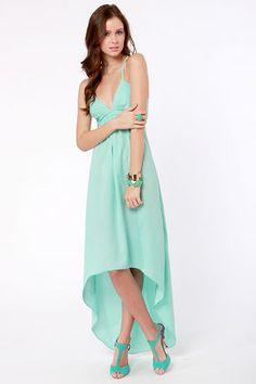Beautiful Backless Dress - Mint Dress - Aqua Dress - $48.00 on imgfave