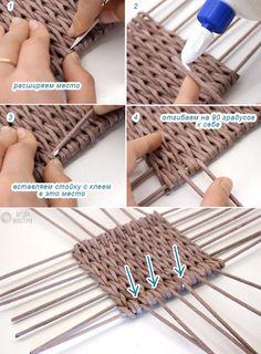 процесс добавления боковых стоек к дну Newspaper Paper, Newspaper Basket, Newspaper Crafts, Paper Basket Diy, Diy Paper, Paper Weaving, Weaving Art, Upcycled Crafts, Diy Crafts