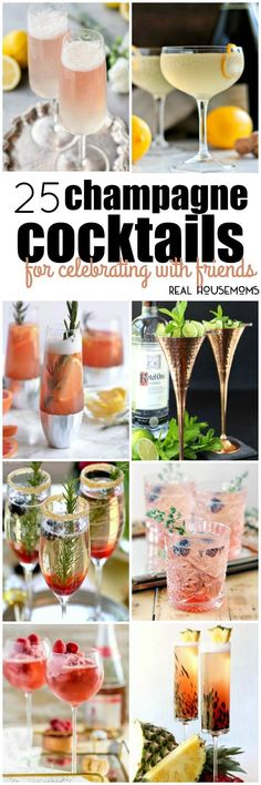 No matter what time of year it is, these 25 Champagne Cocktails for Celebrating with Friends are sure to make your gathering extra special!