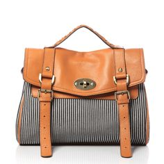 Kate Striped Medium Bag