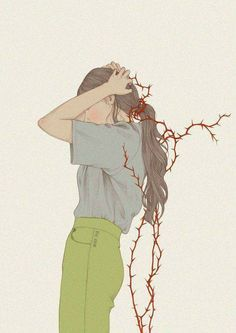 Nature Film, Arte Obscura, Sad Art, Fanarts Anime, Aesthetic Drawing, Korean Art, Arte Pop, Manga Drawing, Cute Art