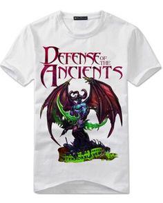 Terrorblade white t shirt for boys DOTA 2 hero XXXL tee short sleeve Dota 2 T Shirt, Dota2 Heroes, Shorts, Tees, Sleeve, Mens Tops, Style, Manga, Swag