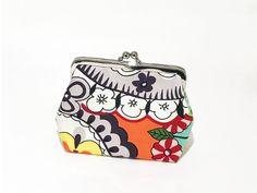 Clipbörse florales Bügeltäschchen kleine Geldbörse Clips, Coin Purse, Purses, Wallet, Etsy, Vintage, Fashion, Craft Gifts, Bags