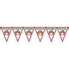 Portugal Football Bunting 7ft x 12 inches. A fantastic decoration for any venue. http://www.novelties-direct.co.uk/Portugal-Football-Bunting.html