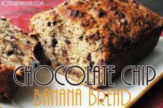 Chocalate Chip Banana Bread made with Greek Yogurt | No Sugar Sweet Life