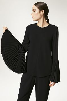 Viscose Pleated Bell