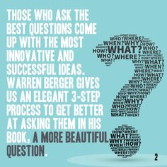 Today's Book Brief: A More Beautiful Question. Want the version? Get a free www.me account. Personal Development Books, Thing 1 Thing 2, Accounting, Leadership, Innovation, Singing, This Book, Success, Good Things