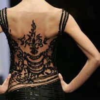 Beautiful Black Open Back