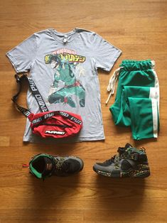 Summer Outfit Hero Academia Deku Swag Outfits Men, Outfits Hombre, Cool Outfits, Hype Clothing, Boy Clothing, Clothes, Estilo Rock, Fandom Fashion, Outfit Grid