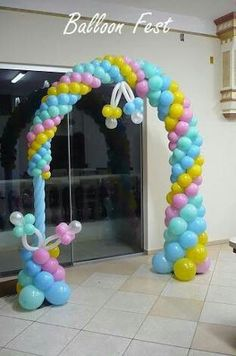 Ballon Decorations, Birthday Party Decorations, Balloon Columns, Balloon Arch, Baby Shower Balloons, Baby Shower Parties, Baby Shower Centerpieces, Baby Shower Decorations, Mandir Decoration