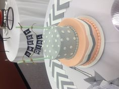 Baby shower cake for girl.  Alternative colors from the usual pink.  Very nice.