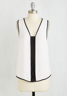 Marvelous Minimalist Top. When it comes to contemporary fashion, youre setting all the trends decked out in this modern minimalist top. #white #modcloth