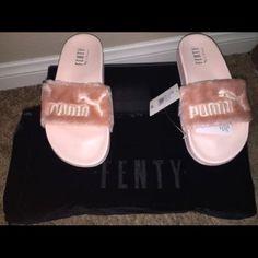 a0b97ba45ef1 Rihanna puma fenty fur slides in pink Brand new in box! Authentic Rihanna  Puma fenty