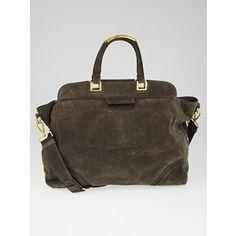 Pre-owned Prada Grafite Scamosciato Suede Shopping Tote Bag BN1979