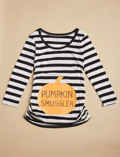 Pumpkin Smuggler Maternity Tee, Halloween Costume, Pregnancy Announcement #afflink