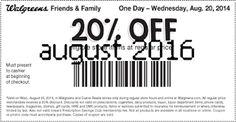 Free Printable Coupons: Walgreens Coupons