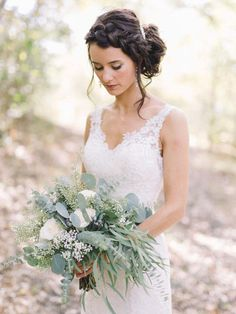 A loose boho braid is the perfect wedding updo for long hair.