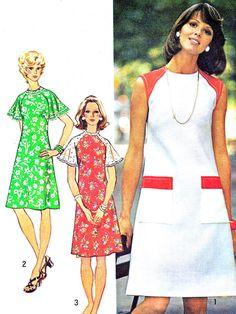 1970s Dress Pattern Simplicity 6215 Raglan Sleeve by paneenjerez, $10.00