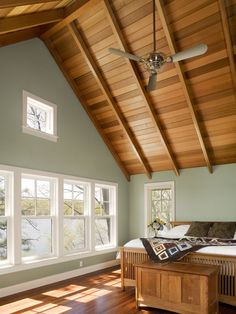 Subtle yet dramatic. The architecture is the star, and the perfect paint color is the supporting cast. Try Benjamin Moore Sagebrush http://www.myperfectcolor.com/en/color/378940_Benjamin-Moore-CSP-770-sagebrush Tate + Burns Architects LLC via Houzz