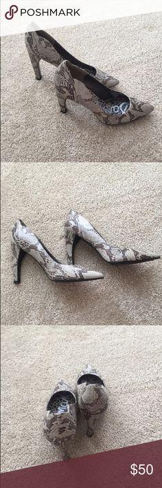 Sam Edelman pumps Sam Edelman snake skin print heels. In great condition. Sam Edelman Shoes Heels