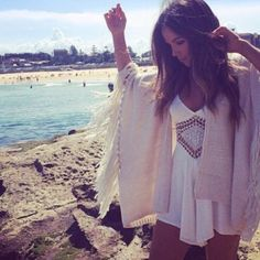 beach cardigan outfit - Google 搜尋