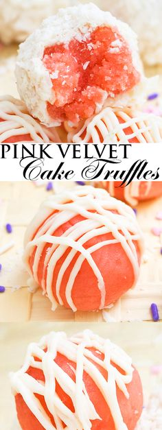 This easy PINK VELVET CAKE TRUFFLES recipe is made with pink velvet cake crumbs, buttercream frosting and white chocolate. They are bite sized, super soft and Perfect for birthday parties, Christmas, Valentine's Day and even Mother's Day. From cakewhiz.com