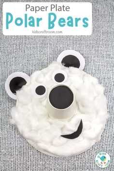 This Paper Plate Polar Bear craft is wonderfully 3D. The soft fur and long noses gives this winter craft so much character! A lovely paper plate craft to go with Arctic study units. #kidscraftroom #kidscrafts #polarbears #paperplatecrafts #preschoolcrafts #wintercrafts Easy Crafts To Sell, Easy Crafts For Kids, Toddler Crafts, Toddler Activities, Gifts For Kids, Art For Kids, Craft Kids, Winter Activities, Kid Crafts