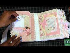 Baby Girl Mini Scrapbook Album August 2015