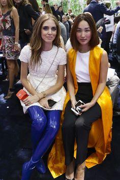 Chiara Ferragni, Nicole Warne - Christian Dior Fall 2015 Haute Couture Front Row - July 6, 2015
