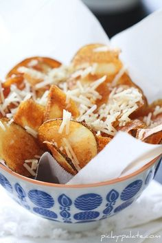 homemade parmesan potato chips... oh my!