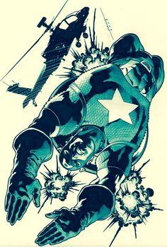 Captain America by Marcelo Mueller Comic Book Artists, Comic Book Characters, Comic Book Heroes, Marvel Characters, Comic Books Art, Comic Art, Marvel Comics, Marvel Heroes, Captain America Art