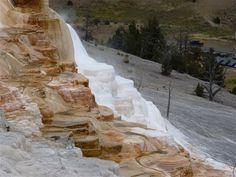 Mammoth hot springs. Yellowstone park.2014