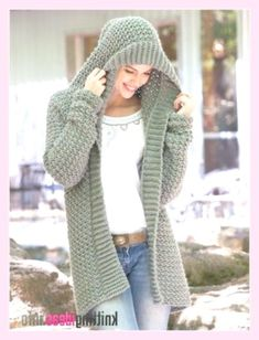 20 Free Crochet Sweater Patterns Perfect for Chilly Days - Ideal Me - Free Knitting Pattern Weekend Casual Hooded Sweater Crochet Pattern - Free Knitting Pattern Always aspired to learn how to . Crochet Cardigan Pattern, Crochet Poncho, Crochet Hooks, Crochet Sweaters, Hooded Scarf Pattern, Easy Crochet, Hooded Sweater, Sweater Coats, Sweater Jacket