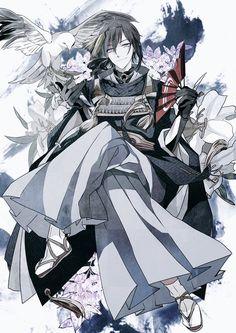 Anime guy in kimono Handsome Anime Guys, Hot Anime Guys, Cute Anime Boy, Anime Love, Manga Boy, Manga Anime, Anime Art, Touken Ranbu Mikazuki, L5r