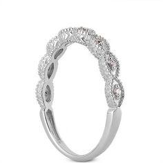 Art Deco Antique Style diamant Milgrain 14K or par GNGJewel sur Etsy