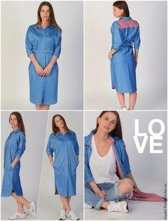 Платье из джинса выкройка фото