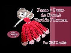 Passo a Passo Vestido de Crochê Princesa para aplicação por JNY Crochê - YouTube