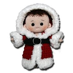 Christmas Santa baby, free crochet pattern, not in English