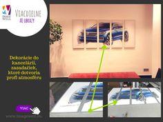 Dekorácie do kancelárie, 3dielny obraz v hliníkovom ráme