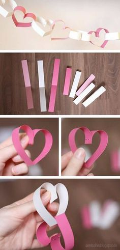 DIY darling garland for Valentine's Day or for weddings by www.aentschiesblo – Dusti Charlesworth DIY darling garland for Valentine's Day or for weddings by www.aentschiesblo DIY darling garland for Valentine's Day or for weddings by www. Valentines Day Decorations, Valentine Day Crafts, Kids Valentines, Paper Wedding Decorations, Cheap Party Decorations, Craft Decorations, Diy Birthday Decorations, Diy Paper, Paper Crafting