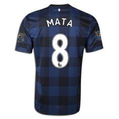 2013/14 Manchester United Juan Mata Away Soccer Jersey  #JuanMataJersey #JuanMataManUnitedJersey #MataJersey #JuanMataFootballJersey #JuanMata