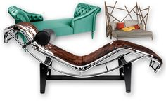 A chaise longue é o cruzamento de uma cadeira com uma cama. Ideal para se aconchegarem os dois em dia de São Valentim e nos outros também!