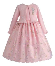 Ice Pink Floral Dress & Cardigan - Infant, Toddler & Girls by American Princess #zulily #zulilyfinds