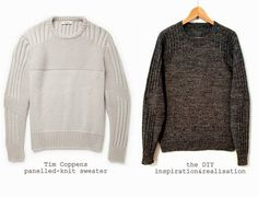DIY: menswear panelled pullover inspired by Tim Coppens