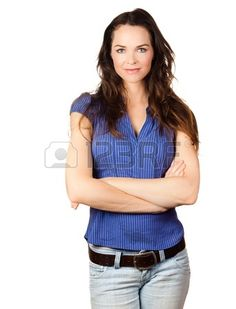 Isolated portrait of a beautiful confident young woman