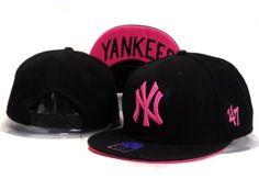 a0e6ade70f2b6 Casquette NY New York Yankees MLB Snapback Noir Rose Logo   Casquette Pas  Cher New Era