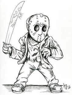 Colouring Pages On Pinterest Coloring Pages Coloring Jason Voorhees Coloring Pages